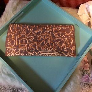 Arabic calligraphy clutch